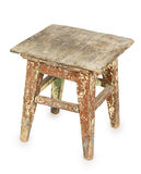 Old wooden stool Royalty Free Stock Image