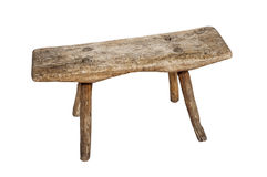 Old wooden stool Stock Photography