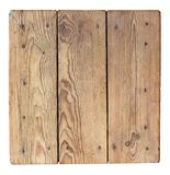 Old wooden stool top. Texture stock photo