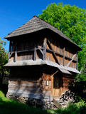 Old wooden structure. Old wooden house, a museum Uzhhorod. Ukraine Stock Image