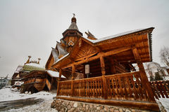 Old wooden structure at Izmailovsky Kremlin, Moscow Stock Photos