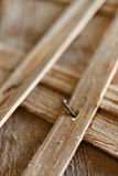 Old wooden structures with rusty nails. Royalty Free Stock Photos