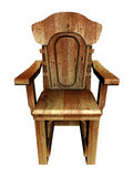 Old wooden stylish chair. Royalty Free Stock Photos