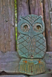 Old wooden stylized owl in HDR Royalty Free Stock Photos