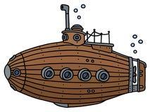Old wooden submarine Stock Photo