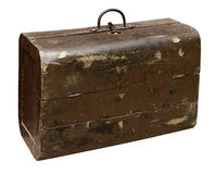 Old wooden suitcase Royalty Free Stock Photography
