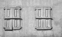 Old wooden sun blind shutters Royalty Free Stock Image