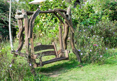 Old wooden swing Stock Images