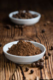 Old wooden table with Allspice powder Stock Images