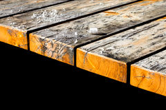 Old wooden table boards Royalty Free Stock Images