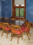 Old wooden table and chairs Royalty Free Stock Photos