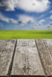 Old wooden table close-up Royalty Free Stock Photos