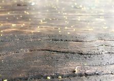 Old wooden table close up Stock Image