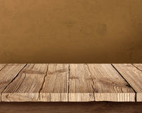 Old wooden table with dark background Stock Photography