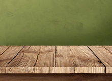 Old wooden table with dark background. Arranged for the material to be placed on a wooden table photo Royalty Free Stock Photo