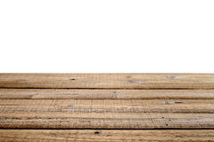 Old wooden table isolated on white background Stock Photo