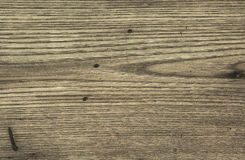 Old wooden table with scratches Royalty Free Stock Photography