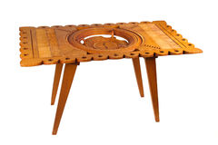 Old wooden table from Suriname, isolated Royalty Free Stock Photo
