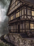 Old wooden tavern. In a medieval town Royalty Free Stock Photography
