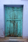 Old Wooden Teal Door royalty free stock image