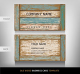 Old Wooden Texture Business Card. Royalty Free Stock Image