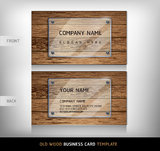 Old Wooden Texture Business Card. Stock Images