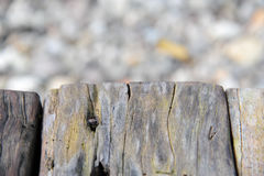 Old wooden texture isolate with stone texture stock photo