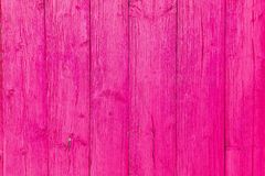 Old wooden texture. Vintage design. Pink paint. Glamour design. Colorful background Stock Photography