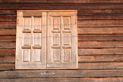 Old wooden textured wall and window Royalty Free Stock Photography