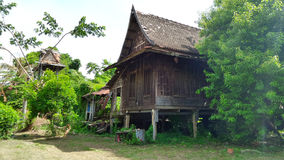 Old wooden Thai house in tradition style Stock Images