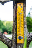 Old wooden thermometer Stock Photos