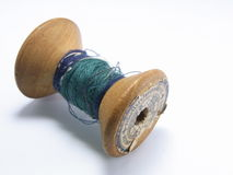 Old wooden thread Stock Photography