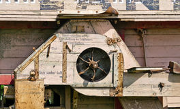 Old wooden thresher Royalty Free Stock Image
