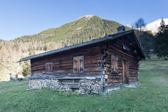 Old wooden timber hut Stock Image