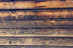 Old wooden timber wall as background. Stock Image