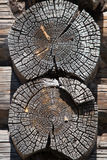 Old wooden timbered wal Stock Images