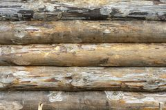 An old wooden timbers. The texture of the old tree royalty free stock photo