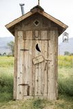 Wooden Toilet Shed Stock Photography