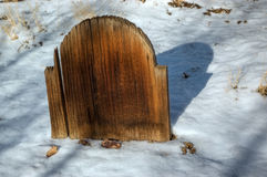 Old Wooden Tombstone Stock Photo