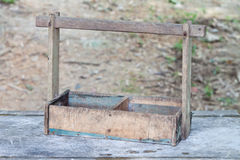 Old wooden tool box Royalty Free Stock Photography
