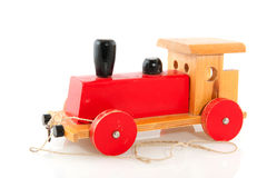 Old wooden toy stock photo