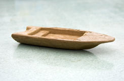 Old wooden toy boat Royalty Free Stock Image
