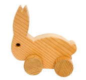 Old wooden toy rabbit Stock Photo