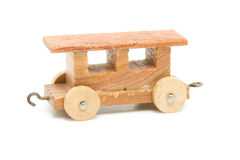 Old wooden toy train Royalty Free Stock Image