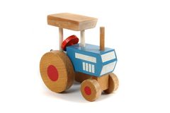 Old wooden tractor toy Royalty Free Stock Photo