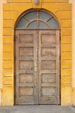 Old wooden traditional door Stock Photo
