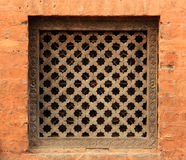 Old wooden traditional Nepalese window detail. Nepal Stock Photos