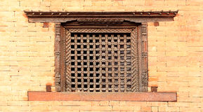 Old wooden traditional Nepalese window detail. Nepal Stock Images