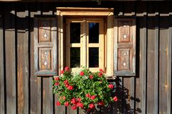 Old wooden traditional window stock image