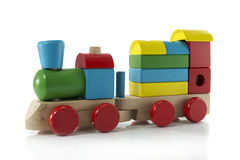Old wooden train Royalty Free Stock Images
